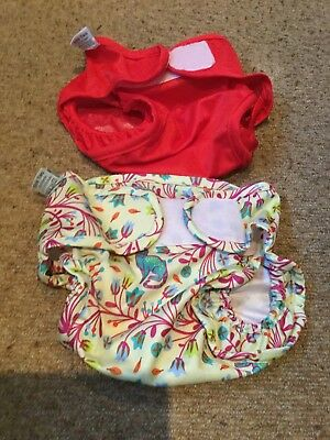 little lamb size two waterproof nappy covers x 2 Pre Loved