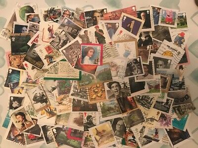 25g Of Used Recent Modern Gb Comms Commerative Stamps Kiloware 2001-2017 (4)
