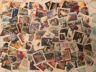 25g Of Used Recent Modern Gb Comms Commerative Stamps Kiloware 2001-2017 (5)