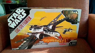 Star Wars 30th Anniversary ARC-170 fighter firing blaster cannon