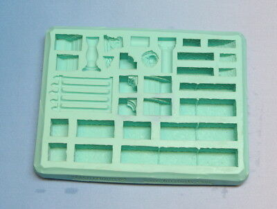 Hirst Arts Mould #45 Gothic Dungeon Builder. Spooky Gothic-ness Beckons Kids!