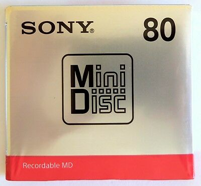 1 Sony MD80 Minutes Blank Recordable New Sealed Minidisc Made in Japan