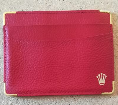 Rolex Red Leather Card Wallet, Genuine,with Calendar 1993/1994 & Brochure