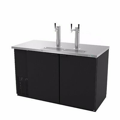 """Direct Draw Beer Cooler, 59‐1/2"""" wide, two‐section, 2 solid doors, Asber ADDC-58"""