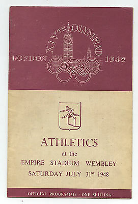Orig.PRG   Olympic Games LONDON 1948 // ATHLETICS 31.07. with 6 Final`s !!  RARE