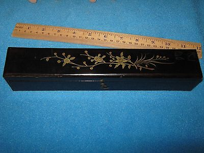 Antique Oriental Fitted Laquered Fan Box