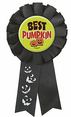 Halloween Party BEST PUMPKIN Award Rosette Medal PRIZE FREE P&P