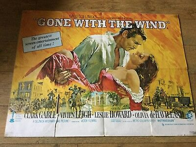 'Gone With The Wind' Original 1968 UK Quad Movie Poster
