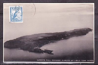 GB Locals - Lundy Island - 1949 (?) used island photo postcard