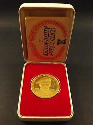 Field Marshall Visc B L Montgomery Kg Gbc Dso Dl~22Ct Gold On Silver Proof Coin
