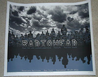 EMEK Radiohead Roseland Ballroom New York Print Poster GLOW IN THE DARK Art