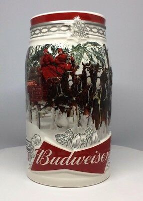 2017 Budweiser Holiday Stein Christmas Beer Mug named Holiday Retreat