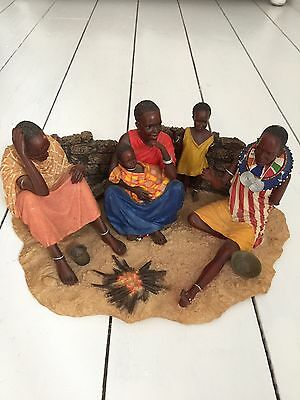 Maasai Soul Journeys Ngano Campfire Tales Collectable Figurine