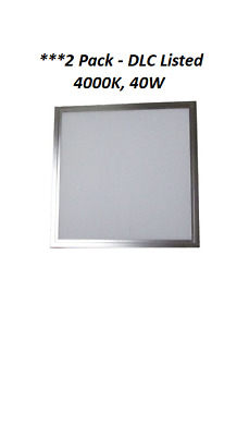 2 Pack-2x2 Ultra Thin LED Flat Panel Ceiling Light DLC Listed,**Excess Inventory
