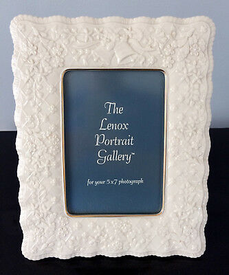 """Lenox China Wedding Promises Collection 5 x 7"""" Picture Frame - NEW"""