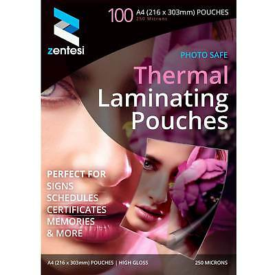 A4 250 Micron Laminating Pouches Gloss Laminate Sheet Sleeves 20/50/10/200