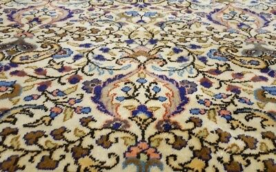 """Exquisite Cr1930-1939s Antique Wool Pile 7'3""""×11'3"""" Floral Patterned Hereke Rug"""