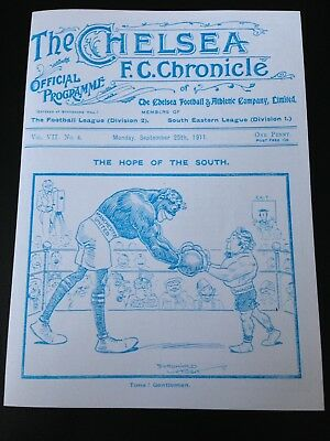 1911 Charity Shield Manchester United V Swindon Town