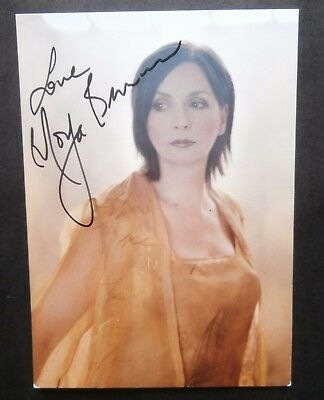 """Clannad - Moya Brennan - Signed """"Two Horizons"""" Promo Postcard and more.."""