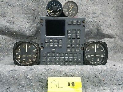 Lot of 4 Airplane Gauges and 1 Radio GL3B