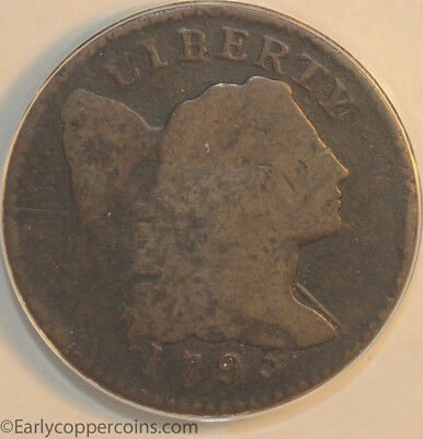 1795 S74 R4 Liberty Cap Large Cent LETTERED Edge ANACS AG3 Starts 1C NO RESERVE!