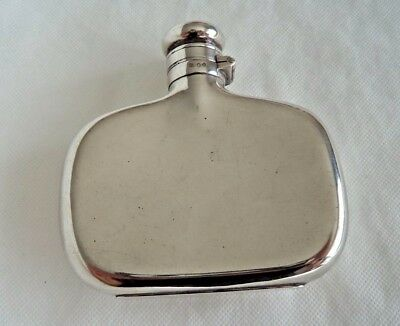 Large Victorian 1887 Sterling / Solid Silver Hip Flask