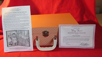 Danbury Mint Tiny Tears Special Edition Porcelain Doll, Case, Accessories, 1999