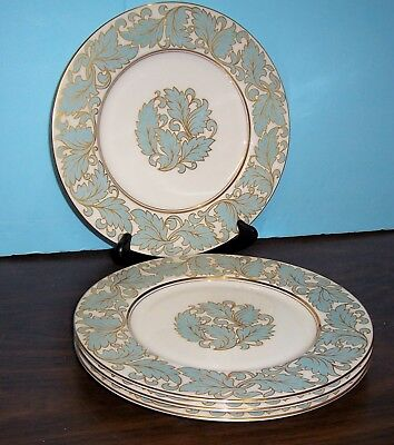 """Lot Of 4 Castleton Dinner Plates  10 5/8""""  Never Used Free U S Shipping"""