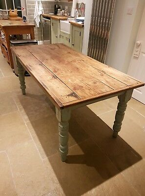 Old french oak farmhouse dining table, shop display table