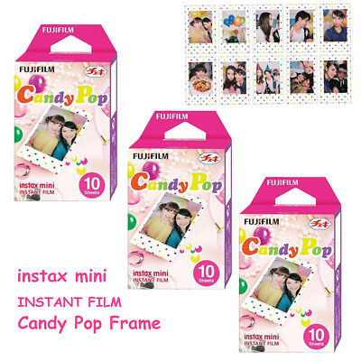 Fujifilm Mini 30 Sheets Candy Pop Film Photos For Instax 7s 8 9 25 50s 70 Camera