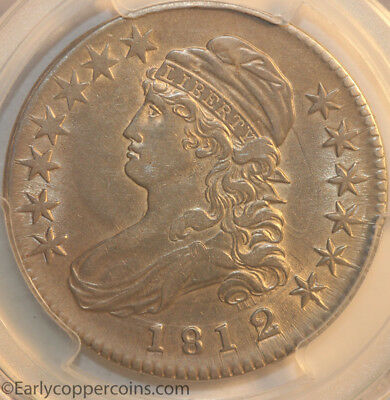 1812/1 Small 8 Capped Bust 50C Half Dollar PCGS AU50 Starts 1C NO RESERVE!