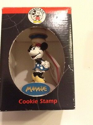 "Disney Mickey & Co. Collectible Ceramic Cookie Stamp ""Minnie Mouse"" New In Box"