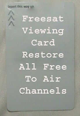 50 White Unactivated Freesat Viewing Cards