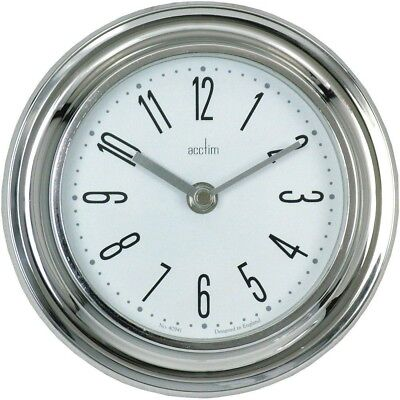 Acctim Good Quality 21737 Riva Small Wall Clock Chrome New Boxed