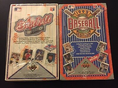 1991 & 1992 Upper Deck Factory Sealed Baseball Boxes - 2 Box Lot