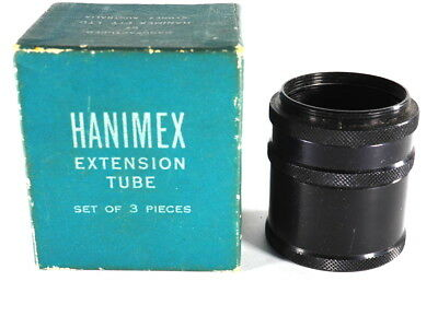 Vintage Old Hanimex Extension Tube In Box, Old Camera Part (H77)