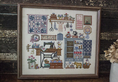 Counted Cross Stitch, In the Sewing Room, Framed