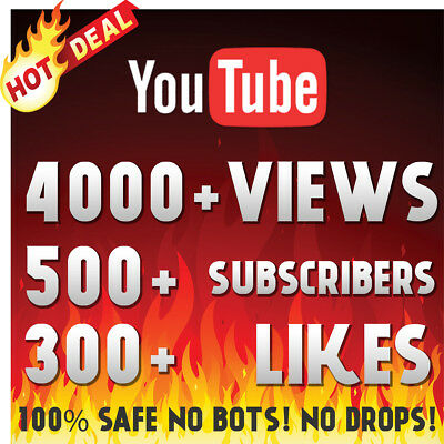 4000+ Youtube-Views 500+Subscribers 300+ Likes-Supreme Youtube Pack No Drop Hq