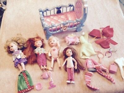 Lot Kelly Dolls & Same Size Friends Clothes Accessories Bed