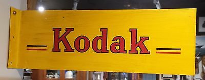 Vintage Original Kodak Store Display Advertising Metal Hand Painted Litho Sign