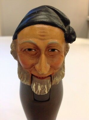 Black Forest Carved Wood Old Man Nutcracker Vintage