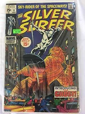 "Marvel Silver Surfer Vol 1 No 8 ""Now Strikes the Ghost!"" VG"