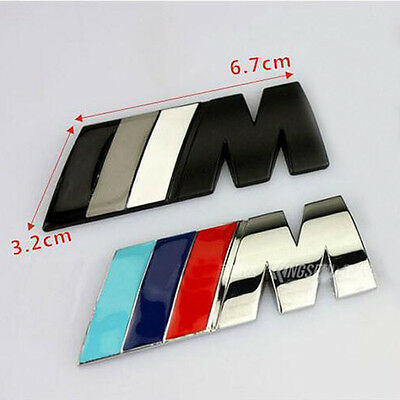 For BMW Emblem M Badge Sticker Car Rear Trunk Metal Decal M-Series M3 M4 M5