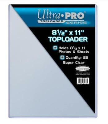 25 Ultra Pro 8 1/2 x 11 Toploaders Photo Sheets Holders Storage Protection 81433