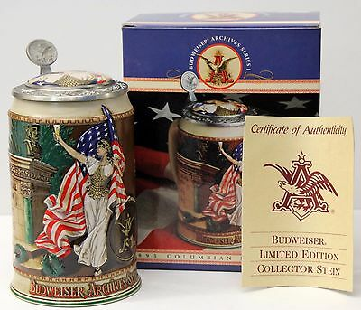 BUDWEISER ARCHIVES SERIES I - BEER STEIN - 1893 COLUMBIAN EXPOSITION -  in BOX