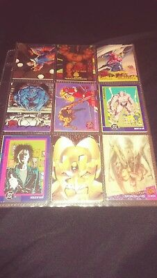 Comic Cards Lot - Marvel and DC