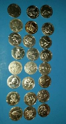 24 Star Wars Coins 30th Anniversary 2007 Yoda Skywalker Boba Fett