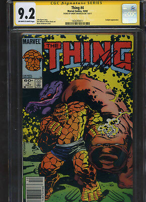 The Thing #4 CGC 9.2 SS Brent Anderson 1983 Lockjaw FANTASTIC FOUR John Byrne