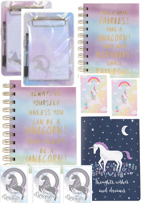 UNICORN Rainbow Notepads Notebooks Kids Adults Gift Stocking Filler