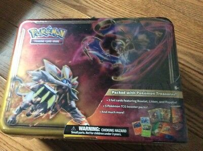 Pokemon Sun & Moon TCG Collectible Chest  2017 Sealed